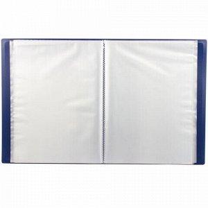 Папка 60 вкладышей STAFF, синяя, 0,5 мм, 225704