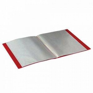 Папка 60 вкладышей STAFF, красная, 0,5 мм, 225706
