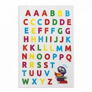 """Наклейки зефирные """"Английский алфавит"""", многоразовые, 10х15 см, ЮНЛАНДИЯ, 661781"""
