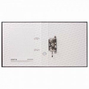 """Папка-регистратор STAFF """"Manager"""" с покрытием из ПВХ, 50 мм, без уголка, черная, 225186"""