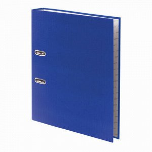 """Папка-регистратор STAFF """"Manager"""" с покрытием из ПВХ, 50 мм, без уголка, синяя, 225977"""