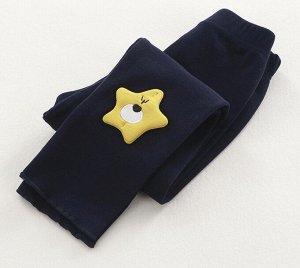 Детские леггинсы, цвет темно-синий, декор звёздочка