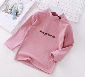 Детская кофта, цвет розовый, надпись Hey Children