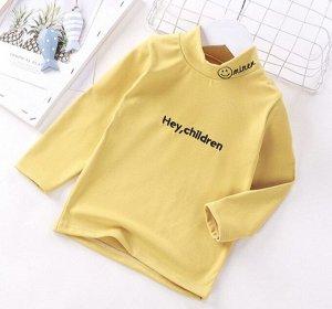Детская кофта, цвет жёлтый, надпись Hey Children