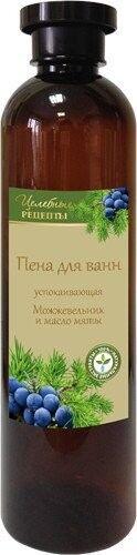 ЦЕЛЕБНЫЕ РЕЦЕПТЫ Пена для ванн Можжевельник и масло мяты (успокаивающая) 600мл