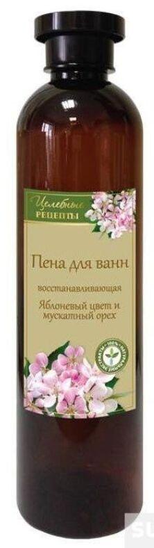 ЦЕЛЕБНЫЕ РЕЦЕПТЫ Пена для ванн Яблоневый цвет и мускатный орех (восстанавлив) 600мл