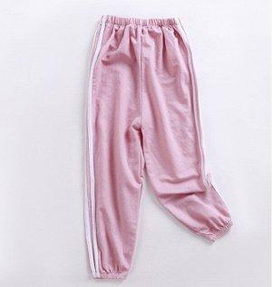 Детские трикотажные брюки, цвет розовый