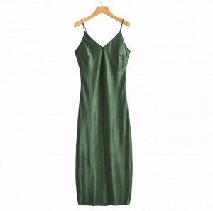 Платье, зеленый