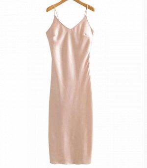 Платье, бежевый