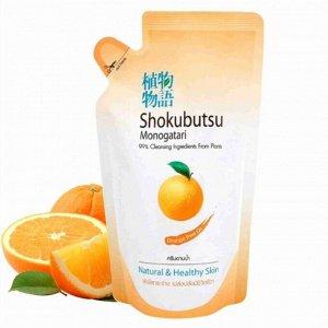 """LION """"Shokubutsu"""" Крем-гель для душа 200мл (мягкая упак) """"Апельсиновое масло"""", Orange Peel Oil"""