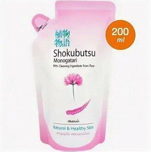 """LION """"Shokubutsu"""" Крем-гель для душа 200мл (мягкая упак) """"Молочные протеины"""", Chinese Milk Vetch"""