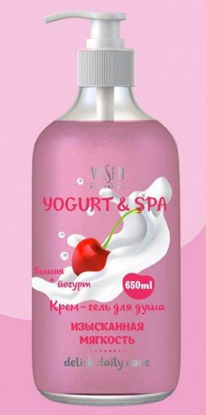 "YOGURT & SPA Крем-гель для душа ""Вишня + Йогурт"" изысканная мягкость 650мл"