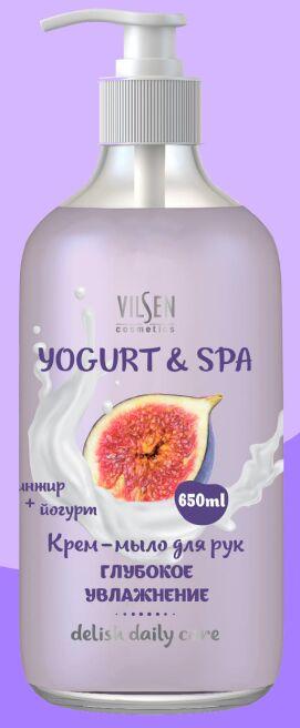 """YOGURT & SPA Крем-мыло для рук """"Инжир + Йогурт"""" глубокое увлажнение 650мл"""