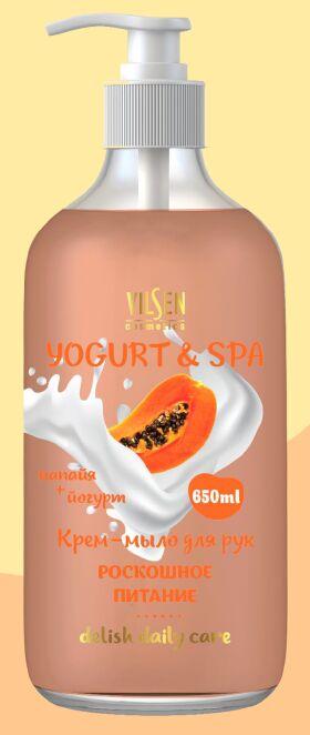"""YOGURT & SPA Крем-мыло для рук """"Папайя + Йогурт"""" роскошное питание 650мл"""