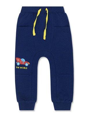 Штанишки Цвет: Синий тёмный; Рисунок: Машинка; Материал: Хлопок 100%; ТИП ТКАНИ: Двунитка Хорошие ясельные штанишки. На поясе - широкая удобная резинка и яркие декоративные завязки. Впереди - два глуб