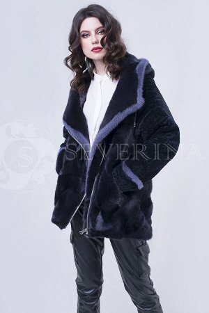 Куртка из норки с отделкой астраган