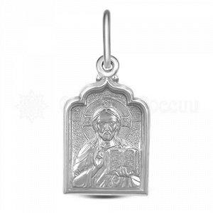 Подвеска религиозная из родированного серебра - Спаситель ПИ-012р