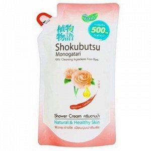 """LION """"Shokubutsu"""" Крем-гель для душа 500мл (мягкая упак) """"Японская Камелия"""""""