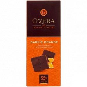 Шоколад O Zera Dark and orange горький, 100 г