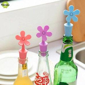 Пробка для бутылки силиконовая с пластмассовым декором