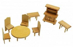 Мебель для кукол Столовая с круглым столом