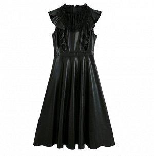 Платье из иск. кожи