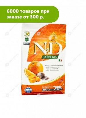 Farmina N&D Grain Free Pumpkin Adult сухой беззерновой корм для кошек Океаническая рыба/Тыква/Апельсин 1,5кг