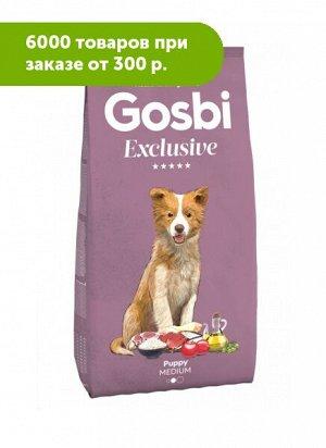 GOSBI EXCLUSIVE PUPPY MEDIUM сухой корм для щенков средних пород Курица 3кг