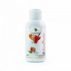 Оральный интимный гель JUICY FRUIT со вкусом клубники в сливках (100 мл)