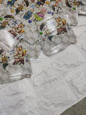 Уп. Шестигранник бол. в стиле Паттерн Дети , бел. (2700-3000 гр), 25x25x23 ( (22 без крышки)