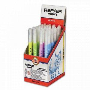 """Ручка стираемая роллер KOH-I-NOOR """"Repair Man"""", СИНЯЯ, корпус ассорти, узел 0,5 мм, линия письма 0,3 мм, 7719831702KD"""