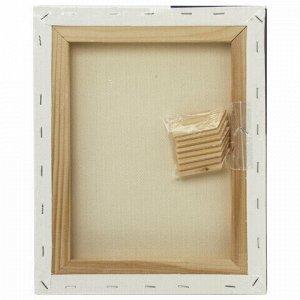 Холст на подрамнике BRAUBERG ART CLASSIC, 24х30см, грунт., 45%хлоп., 55%лен, среднее зерно, 190635