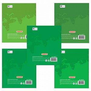 """Тетрадь А5, 48 л., ПИФАГОР, клетка, офсет №2 ЭКОНОМ, обложка картон, """"БАБОЧКИ"""", 403013"""