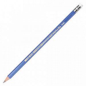 """Карандаш чернографитный BIC, 1 шт., """"Evolution Triangle"""", HB, трехгранный, с резинкой, корпус синий, заточенный, 964849"""