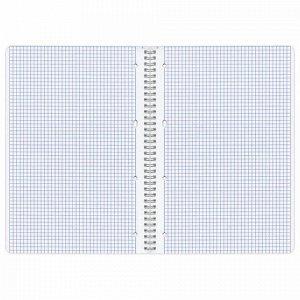 Тетрадь А4, 96 л., BRAUBERG, гребень, клетка, обложка картон, ИНДЕЙ, 400528