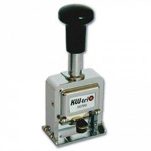 Нумератор KW-trio, 6-разрядный, автоматический, металлический, 20600