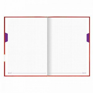 "Блокнот БОЛЬШОЙ ФОРМАТ (215х295 мм) А4, 128 л., твердый, клетка, блок 4 цвета, BRAUBERG, ""Стиль"", 111592"