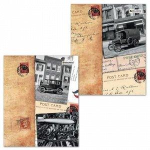 Тетрадь А5, 96 л., BRAUBERG ЭКО, клетка, обложка картон, СТРАНЫ, 401292