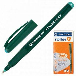 Ручка-роллер CENTROPEN, ЗЕЛЕНАЯ, трехгранная, корпус зеленый, узел 0,5 мм, линия письма 0,3 мм, 4615, 3 4615 0110
