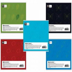 Тетрадь А5, 96 л., BRAUBERG ЭКО, клетка, обложка картон, ТЕКСТУРЫ, 403058