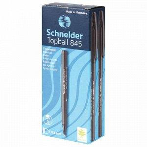 """Ручка-роллер SCHNEIDER (Германия) """"Topball 845"""", ЧЕРНАЯ, корпус с печатью, узел 0,5 мм, линия письма 0,3 мм, 184501"""