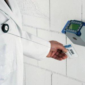Держатели-рулетки для бейджей, КОМПЛЕКТ 10 шт., с клипом + 10 бейджей, пластик, DURABLE (Германия), 8138-19