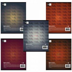 Тетрадь А5, 96 л., BRAUBERG, клетка, обложка картон, МУЗЫКА, 403064