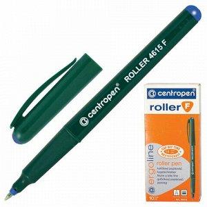 Ручка-роллер CENTROPEN, СИНЯЯ, трехгранная, корпус зеленый, узел 0,5 мм, линия письма 0,3 мм, 4615, 3 4615 0106