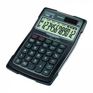 Калькулятор настольный водопыленепроницаемый CITIZEN WR-3000, КОМПАКТНЫЙ (152x106 мм), 12 разрядов, двойное питание