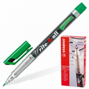"Маркер-ручка перманентная STABILO ""Write"", ЗЕЛЕНАЯ, толщина письма, 0,7 мм, 156/36"