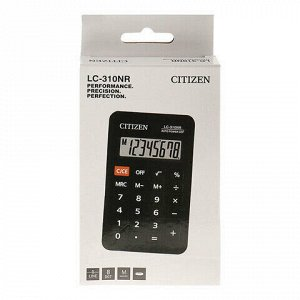 Калькулятор карманный CITIZEN LC310NR (114х69 мм), 8 разрядов, питание от батарейки, LC-310NR