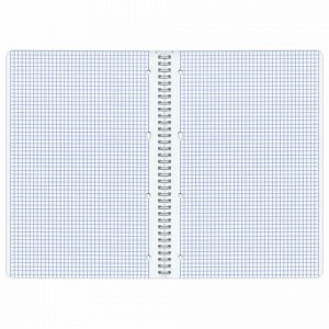 Тетрадь А4, 96 л., BRAUBERG, гребень, клетка, обложка картон, КОНТРАКТ, 400529