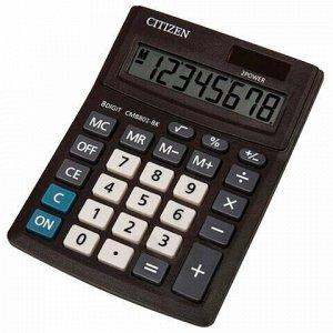 Калькулятор настольный CITIZEN BUSINESS LINE CMB801BK, МАЛЫЙ (137x102 мм), 8 разрядов, двойное питание