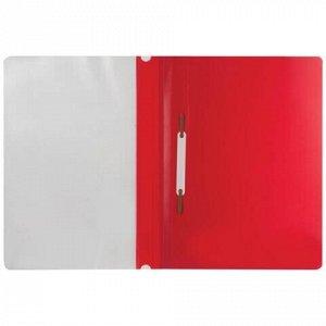 Скоросшиватель пластиковый BRAUBERG, А4, 130/180 мкм, красный, 220384
